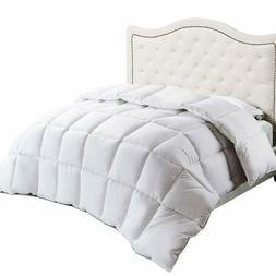 Bedsure 100% Cotton White Comforter Quilted Insert Queen Ful