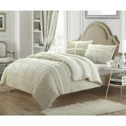 Chic Home 3 Piece Chloe Mink Sherpa Lined King/Queen Comfort