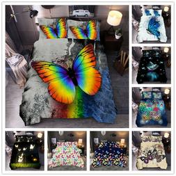 3d butterfly printed duvet cover sets kids