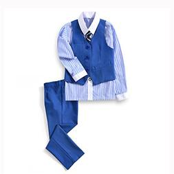Yuanlu 4 Piece Toddler Boys' Vest Set with Pants Shirt and T