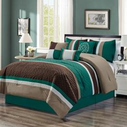 Clearance Sale Chezmoi Collection 7-Piece Pleated Comforter