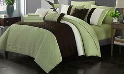 Chic Home Agathe 8Pc Comforter Set - Green - Size: Twin