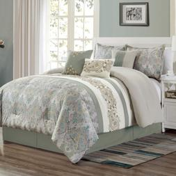 Chezmoi Collection Alberta 7-Piece Medallion Paisley Embroid