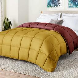 All-Season Reversible Down Alternative Quilted Comforter - C