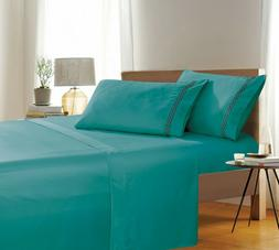 Elegant Comfort Avery Collection 4-Piece Bed Sheet & Pillowc