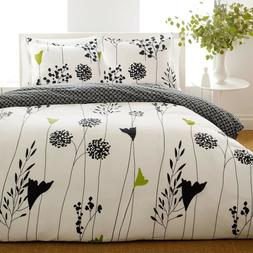 BEAUTIFUL MODERN CHIC BLACK WHITE GREEN BRANCH LEAF LEAVES S