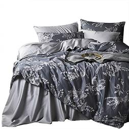 Wake In Cloud - Birds Duvet Cover Set, Cotton Sateen Bedding