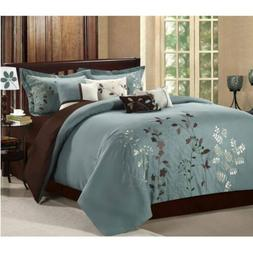 Chic Home Bliss Garden 8 Piece Embroidered Comforter Set, Ki