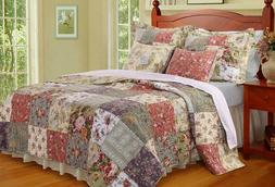 Greenland Home Blooming Prairie Quilt Set, Full/Queen, Multi