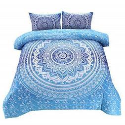 NTBED Bohemian Comforter Sets Queen with 2 Matching Pillow S