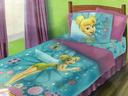 BRAND NEW OFFICIAL DISNEY TINKERBELL 4 PIECES TWIN BED COMFO