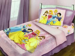 BRAND NEW OFFICIAL DISNEY PRINCESSES 4 PIECES TWIN BED COMFO