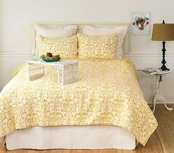 C&F Home Florence Quilt Set, Full/Queen, Yellow