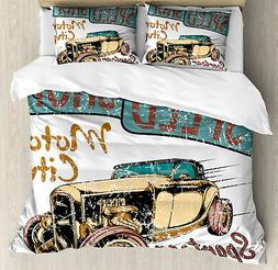 Cars Duvet Cover Set with Pillow Shams Limitless Speed Adver