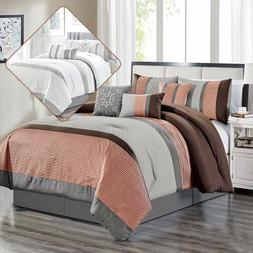 Clory Chic 7-Piece All Season Comforter Set With Decorative