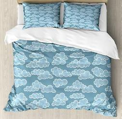 Cloud Duvet Cover Set Twin Queen King Sizes with Pillow Sham