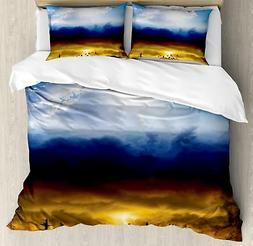Clouds Duvet Cover Set Twin Queen King Sizes with Pillow Sha
