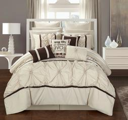 Chic Home CS2755-US Ashville King Size Comforter Set Beige -