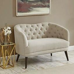 Madison Park Cumberland Tufted Settee With Linen Finish MP10