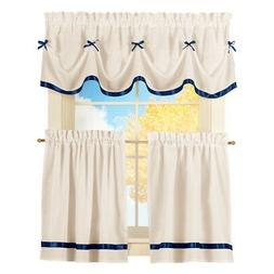 Dainty Bow Cafe Curtain Set, by Collections Etc