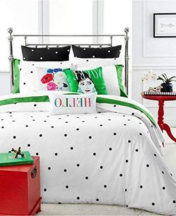 Kate Spade Deco Dot Queen/Full Comforter Set, Black and Whit
