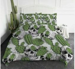 ARIGHTEX Duvet Cover Set Mexican Skull Cactus Pattern Beddin