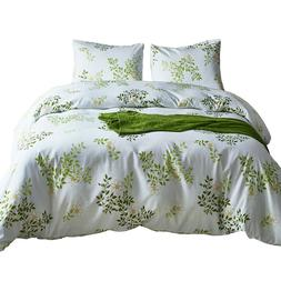 Duvet Cover with Pillow Case Twin Queen King Size Green Tree