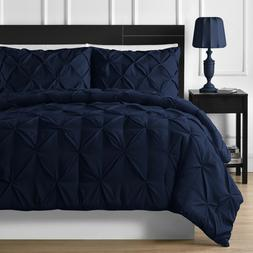 Elegant Durable Stitching 3-piece Pinch Pleated Comforter Se