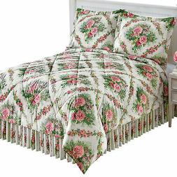 Flower Garden Inspired Rose Trellis Comforter Set
