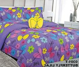 Kids Comforter Set Bed in Bag With 2 Curtains Sham and Decor