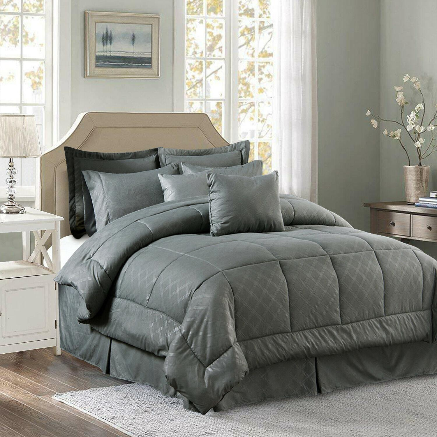 10 piece comforter set complete bed in