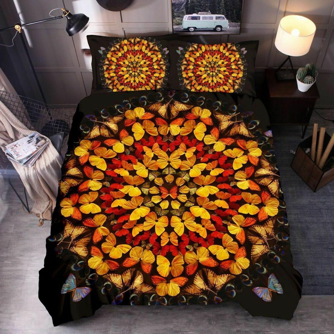 3D Butterfly Cover Comforter Bedding Quilt Cover