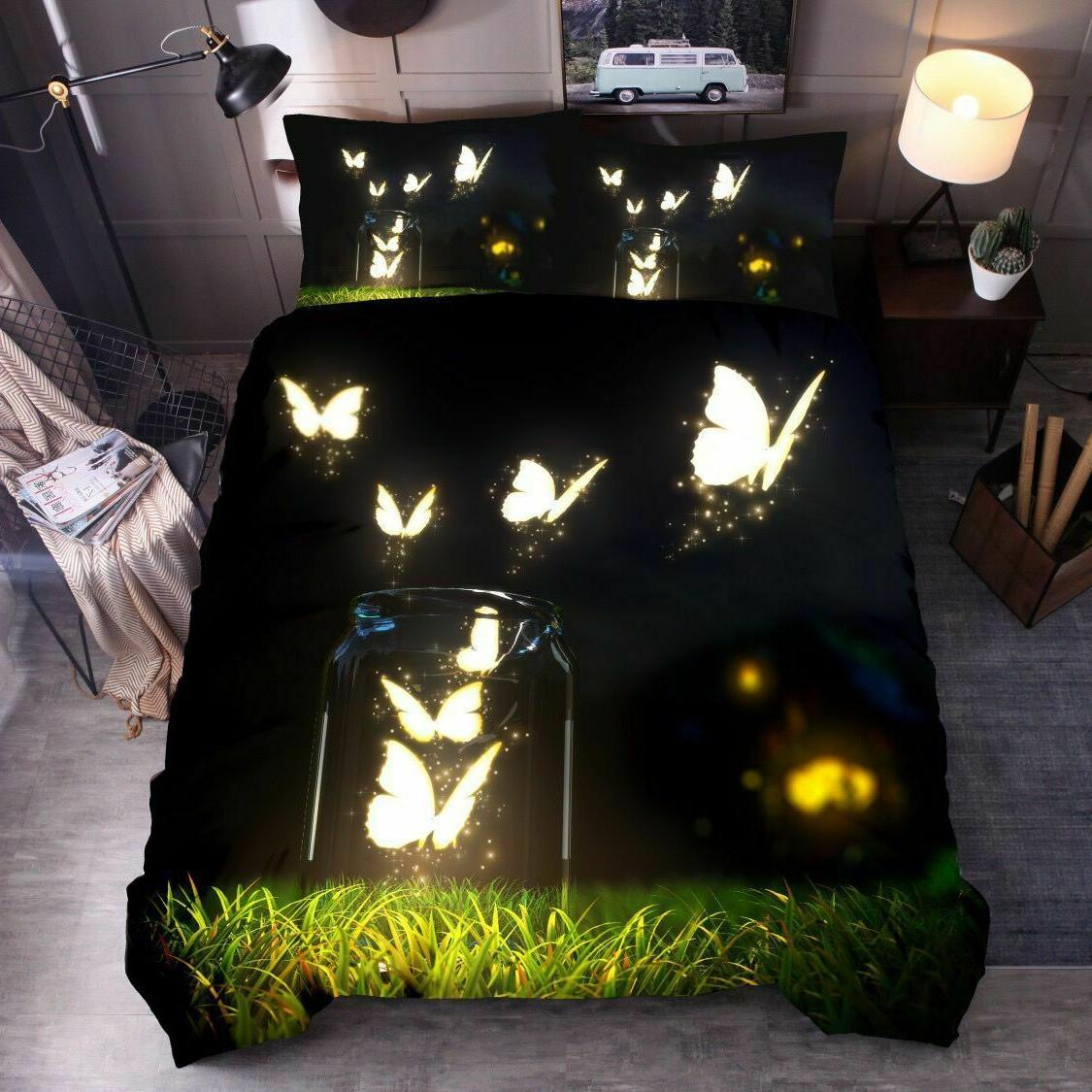 3D Butterfly Cover Sets Lovely Comforter