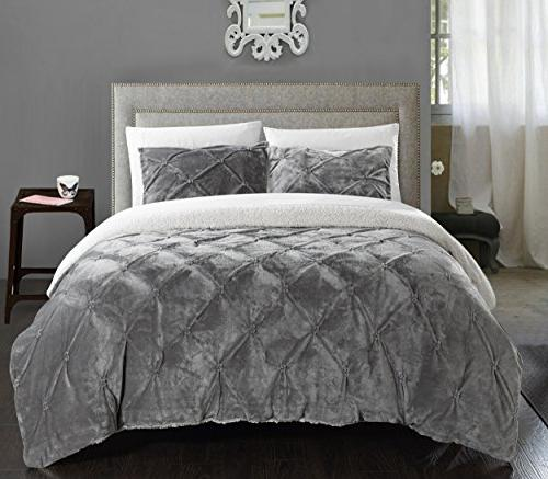 Chic Home 7 Piece Josepha Pinch Pleated Ruffled and Pintuck