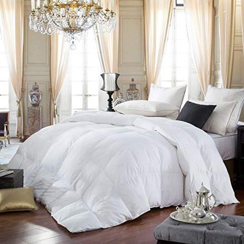 LUXURIOUS Queen Size GOOSE Thread Count Egyptian Cotton Color, Power, 60 Weight, All