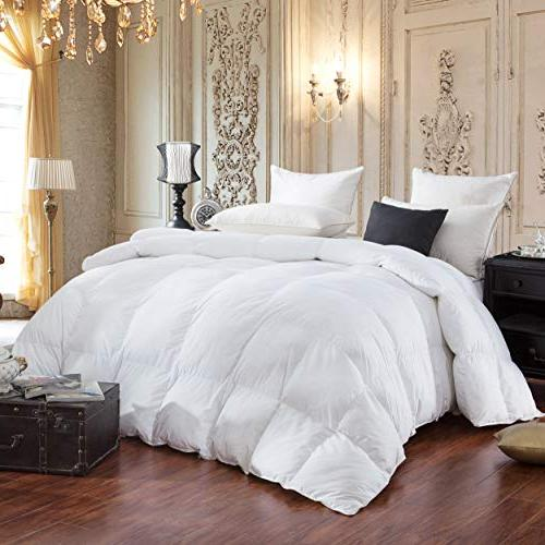 LUXURIOUS GOOSE Comforter, Thread Cotton Cover, Color, 750 60 Fill