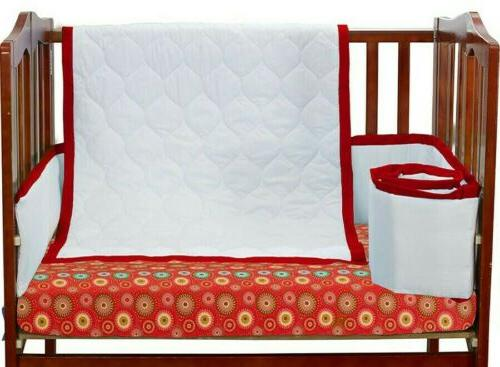 baby doll medallion 3 piece cradle bedding