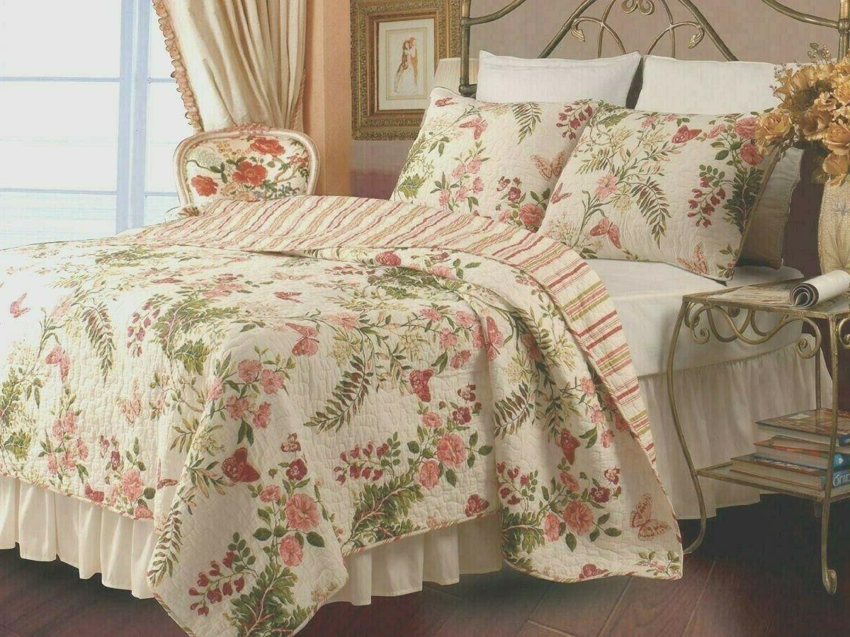 Greenland Home - Butterflies Quilt Set, 3-Piece Full/Queen M