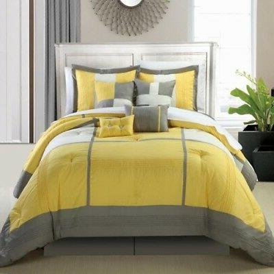 Dorchester Yellow 8 Piece Bed In A Set