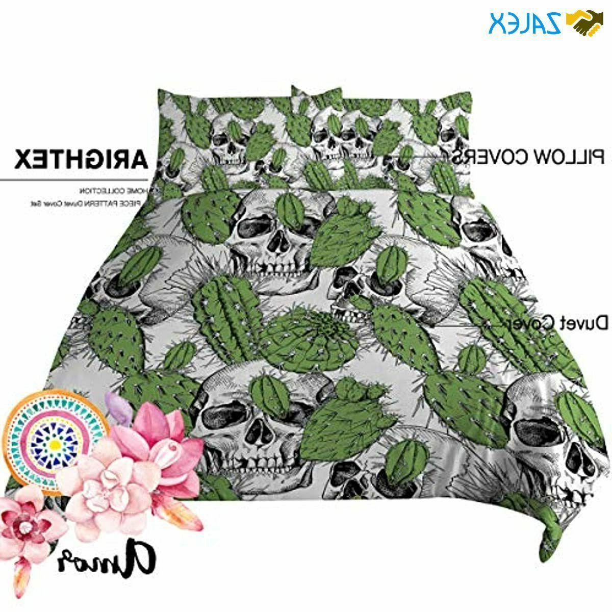 ARIGHTEX Cover Mexican Skull Cactus Bedding Set Cove