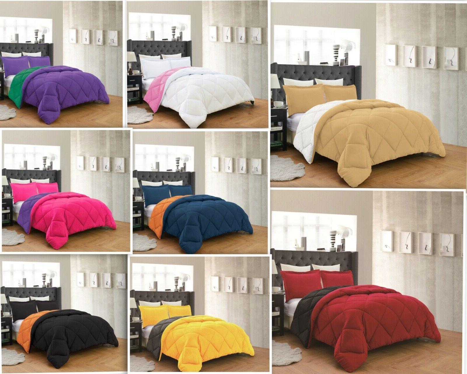 empire home down reversible comforter and pillow