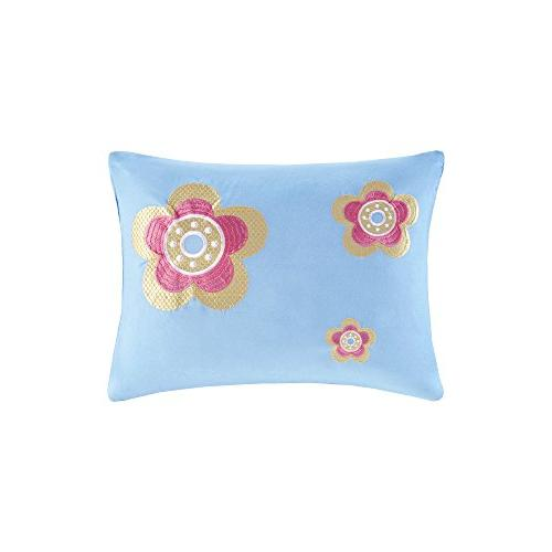Comfort Spaces - Daisy Kid Comforter - Piece - Butterfly Blue - Twin/Twin XL Size, Includes Comforter, Decorative Pillow