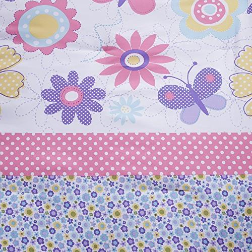 Comfort Daisy Kid Comforter - Piece Butterfly Blue Pink Twin/Twin XL Includes Comforter, Decorative Pillow
