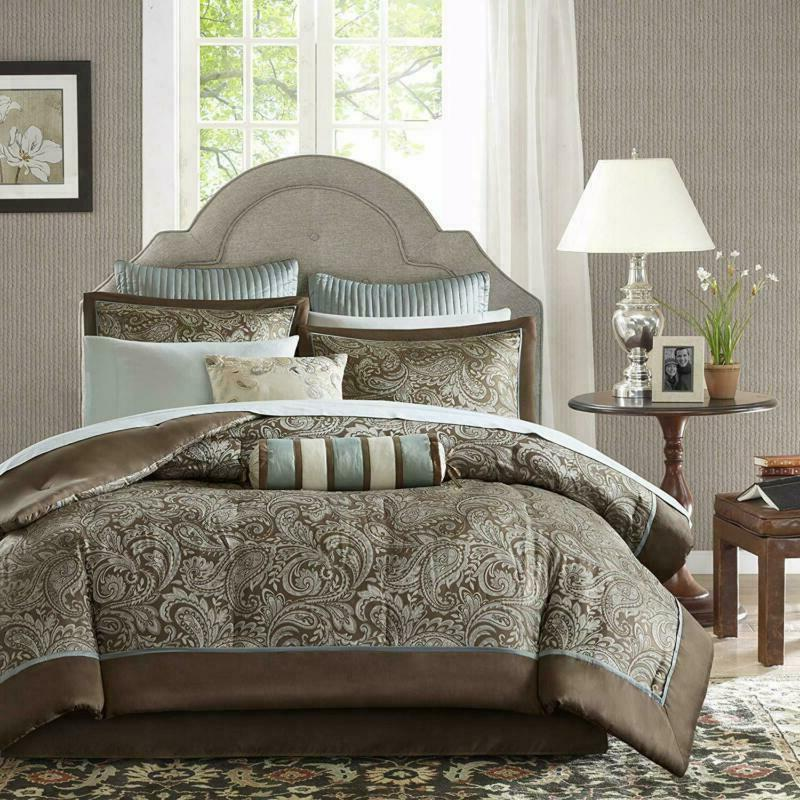 Madison Park Size Comforter Bed - Brown , Pai