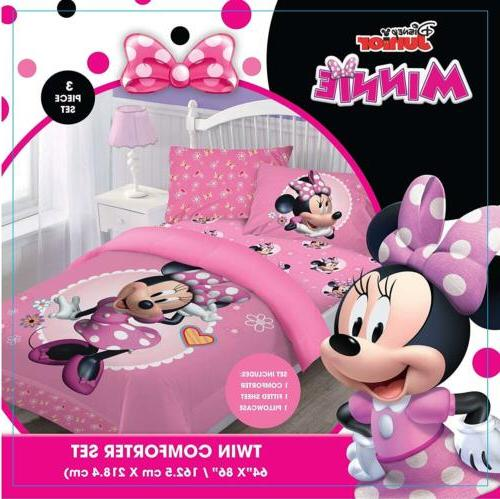 Disney Mouse Comforter+Fitted Case Set Twin/ Full