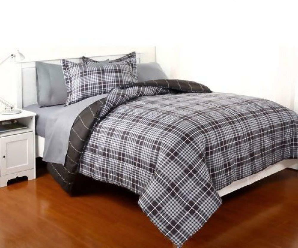 7 Piece Comforter Set Queen with Sheets for All Seasons Gavi