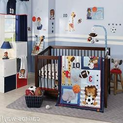LAMBS & IVY 4 PIECE ALL STAR COLLECTION CRIB SET QUILT SKIRT