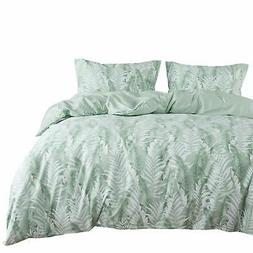 Wake In Cloud - Leaves Comforter Set 100% Cotton Fabric with