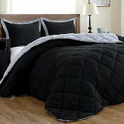 Lightweight Comforter Sets Solid  With 2 Pillow Shams - 3-Pi