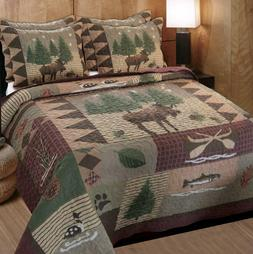 Greenland Home Moose Lodge Quilt Set, King